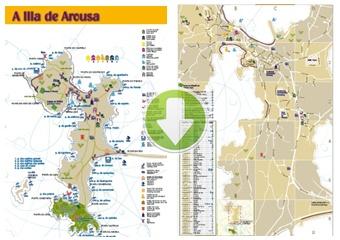 Callejero plano y rutas de a illa de arousa a illa de - Inmobiliarias en villagarcia de arosa ...