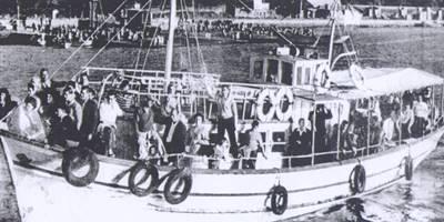 Dornas y embarcaciones en A Illa de Arousa