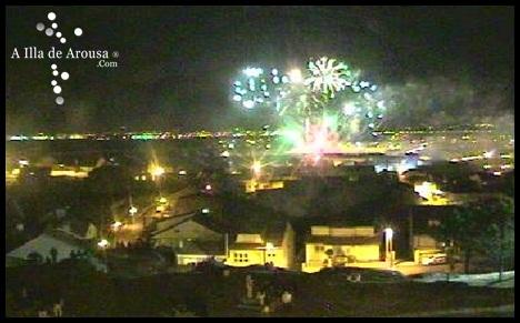 Fuegos Artificiales de las Fiestas del Carmen 2011 desde la web cam