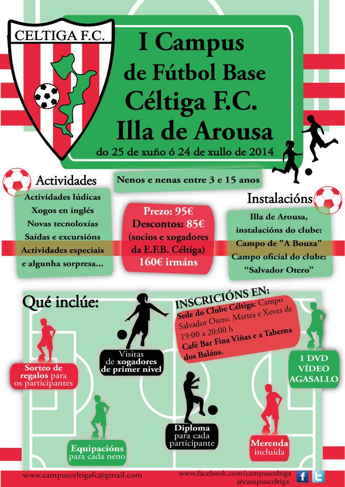 Cartel I Campus de FB Celtiga FC en A Illa de Arousa