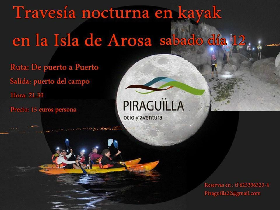 Travesía nocturna en Kayak con Piragüilla