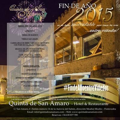 Fin de año 2015 Quinta de San Amaro