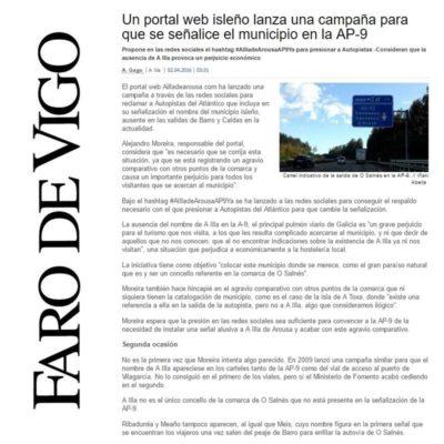 Publicacin Faro de vigo