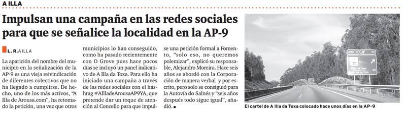 Publiciación Diario de Arousa