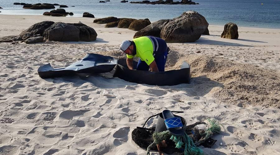 Limpieza de Islote de Areoso - Cofradía de A Illa de Arousa